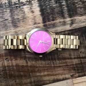 Michael Kors Accessories - Michael Kors quartz watch with pink face